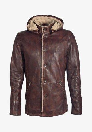 JACKE - Leather jacket - brown