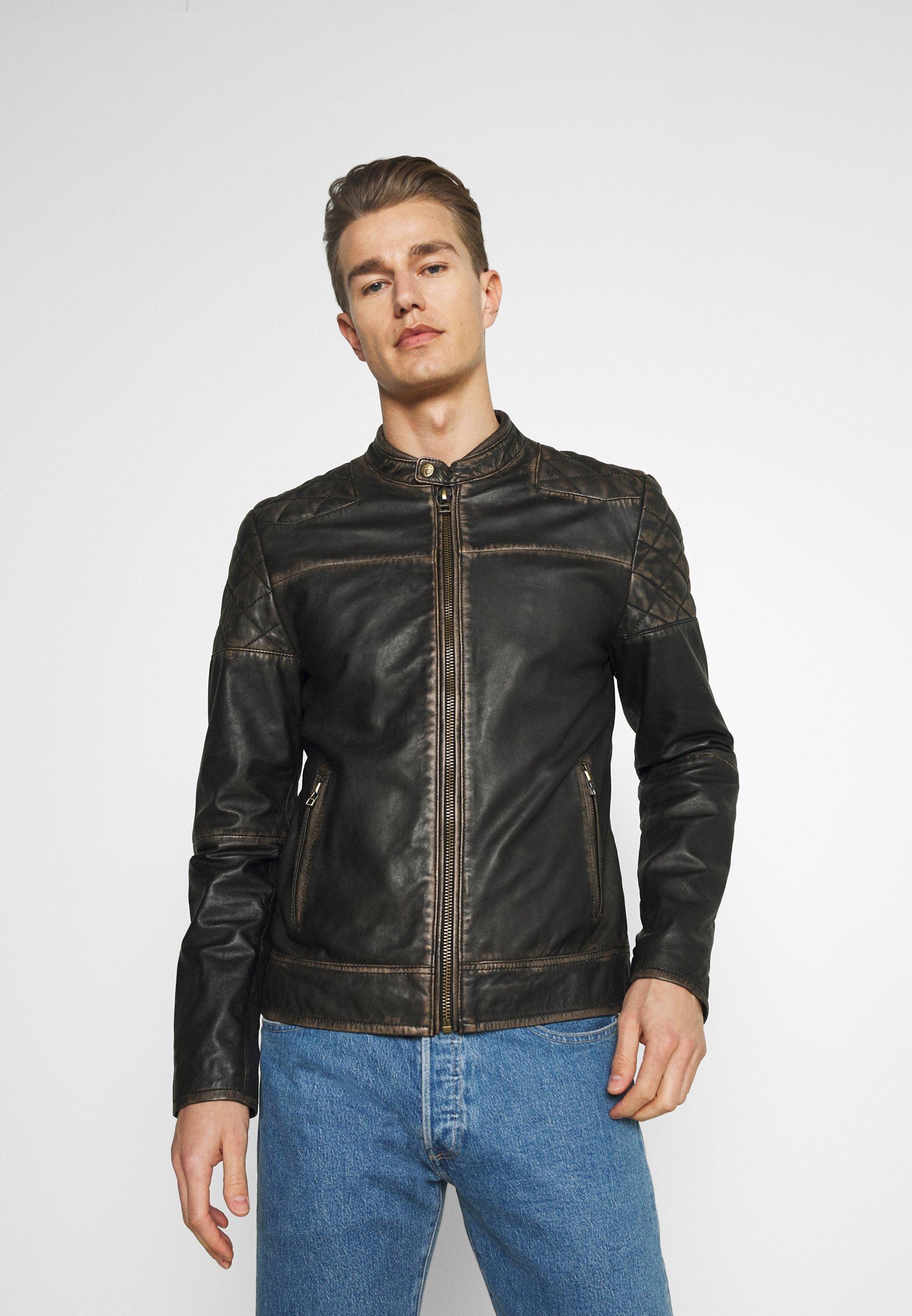 Men BRENTWOOD BIKER - Leather jacket