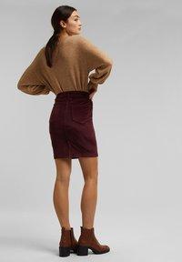 Esprit - PENCIL SKIRT - Pencil skirt - bordeaux red - 2