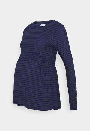 Long sleeved top - blue ribbon/black