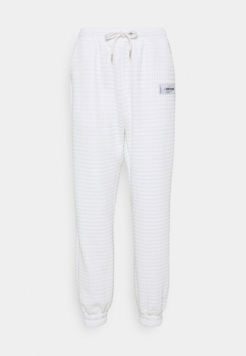 Sixth June - WAFFLE PANT - Tracksuit bottoms - white