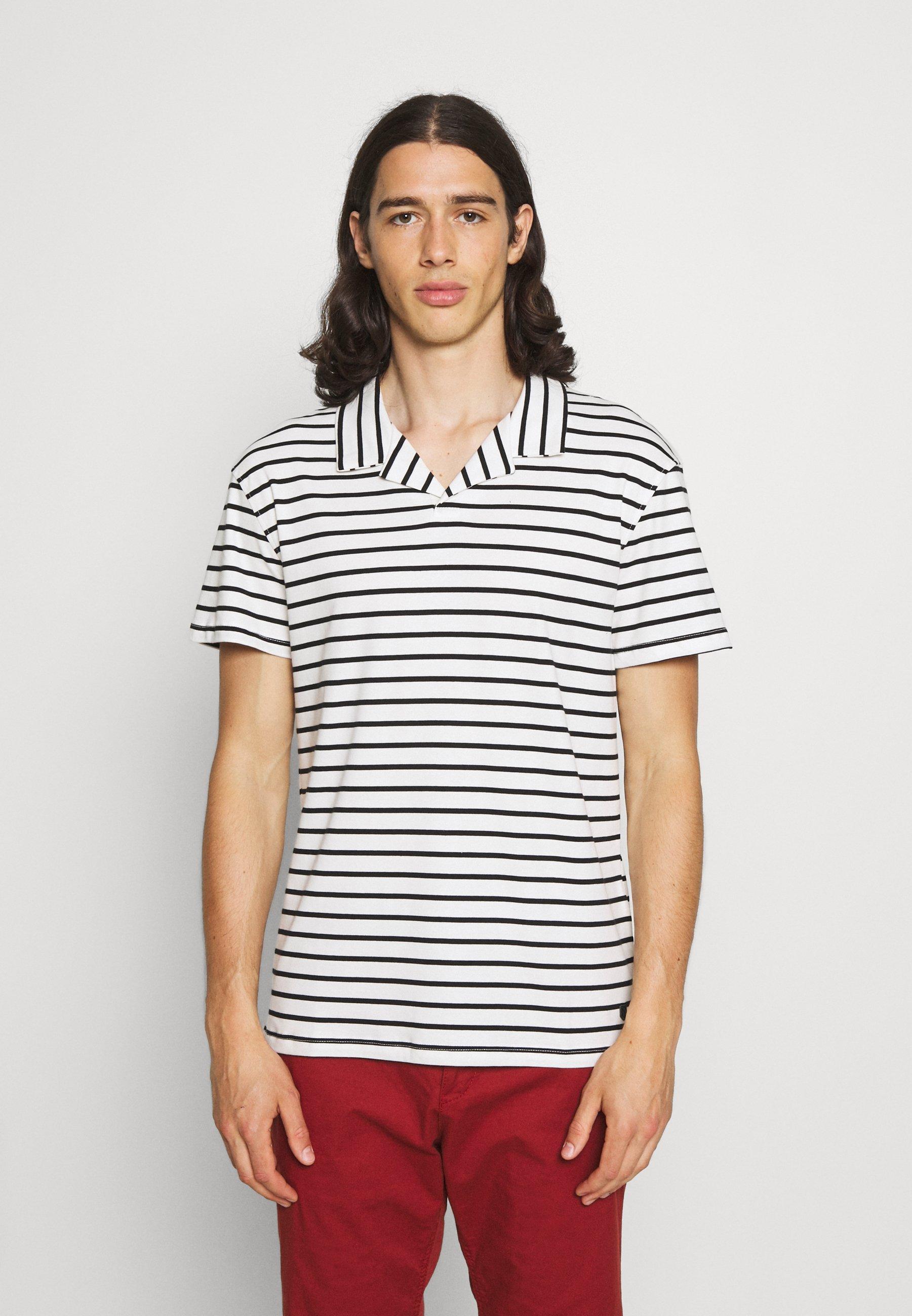 Homme JPRBLARETRO RESORT STRIPE - T-shirt imprimé