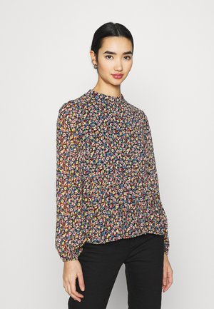 PCMACYA - Blouse - black/misty rose