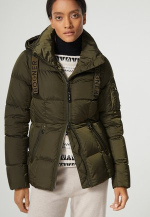 Down jacket - oliv grün