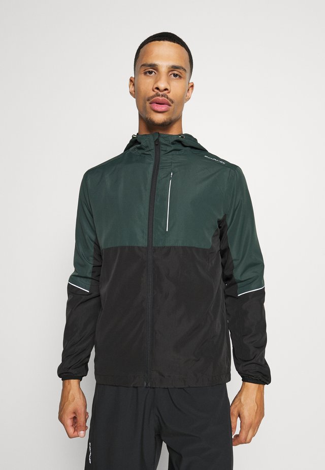 THOROW RUNNING JACKET WITH HOOD - Hardloopjack - deep forest