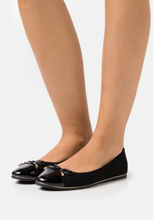 PINE TOE CAP RAND - Ballerina - black