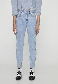 PULL&BEAR - Slim fit jeans - blue-black denim - 0