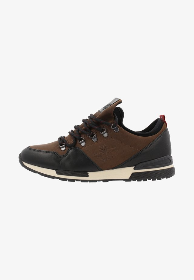 Sneakers laag - black/dark brown