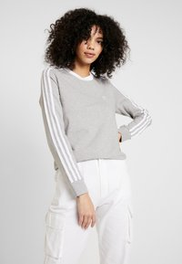 adidas Originals - Long sleeved top - medium grey heather/white - 0