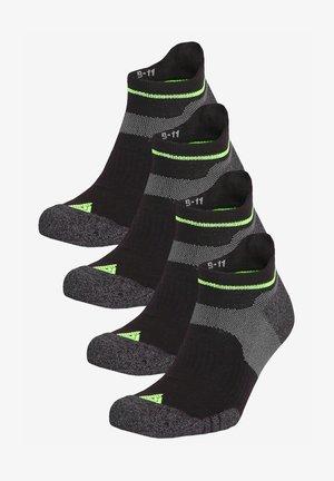 FOUR PACK - Trainer socks - black