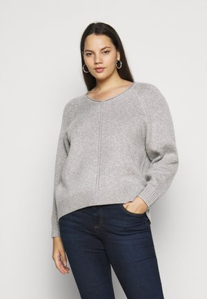 SLFPOLLY  V-NECK - Jumper - light grey