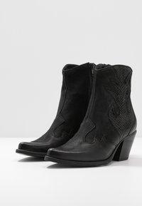 Felmini - LAREDO - Cowboy/biker ankle boot - morat - 4