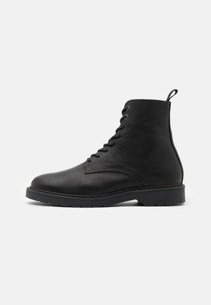 SLHTIM BOOT - Lace-up ankle boots - black