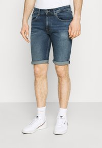 Tommy Jeans - RONNIE RELAXED DENIM SHORT - Jeansshort - blue denim - 0