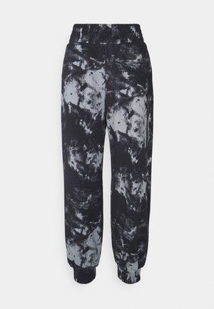 OVERSIZED HIGH RISE - Tracksuit bottoms - black/grey