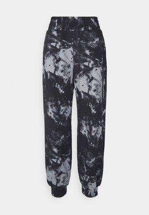 OVERSIZED HIGH RISE - Spodnie treningowe - black/grey