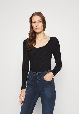 SOLID TINILLA - T-shirt à manches longues - black