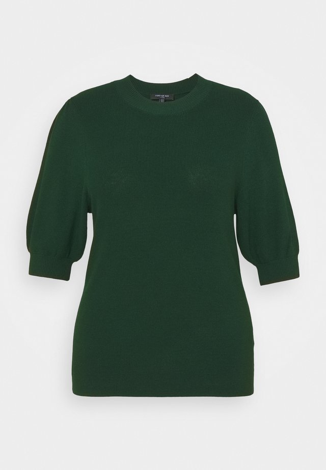 ALICE PUFF SLEEVE TEE - T-shirt basic - forest green