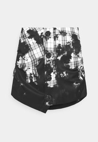 Jaded London - BUTTON FRONT SUIT SKIRT BLEACH CHECK - Mini skirt - multi - 6