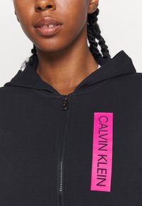 Calvin Klein Performance - FULL ZIP HOODY - Zip-up hoodie - black - 3