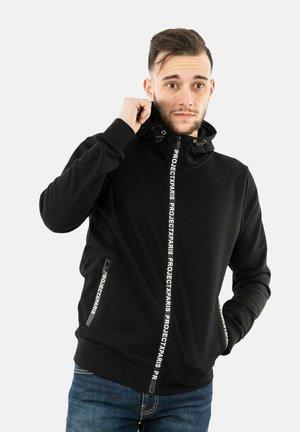 Sweater met rits - noir