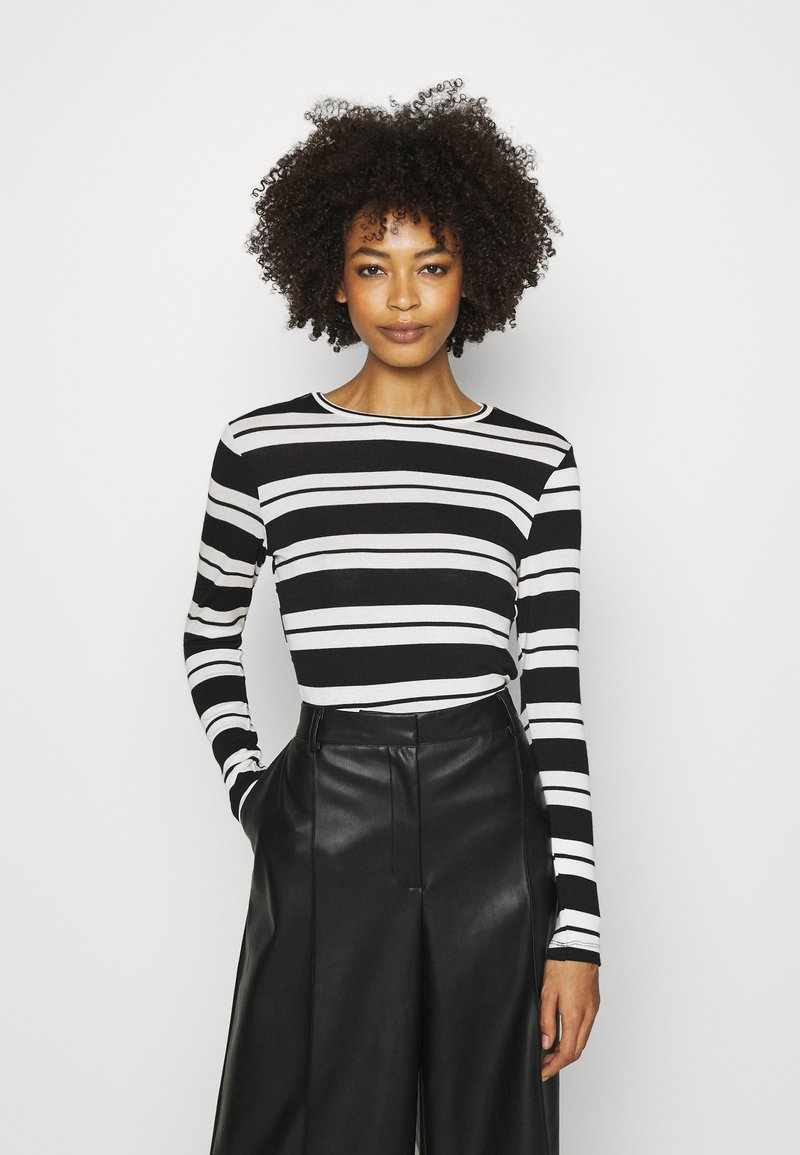 Anna Field - Long sleeved top - black/white