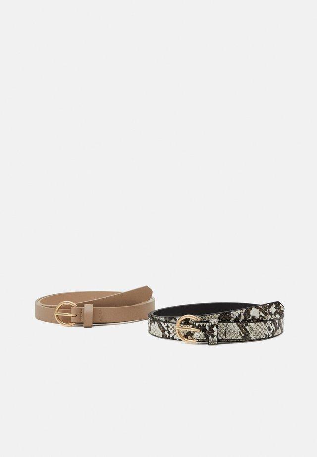 2 PACK - Belt - pink/beige