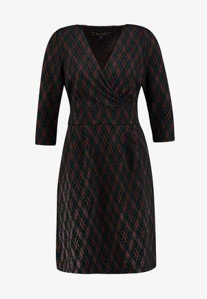 CROSS TULIP DRESS ARGYLE - Strikket kjole - black