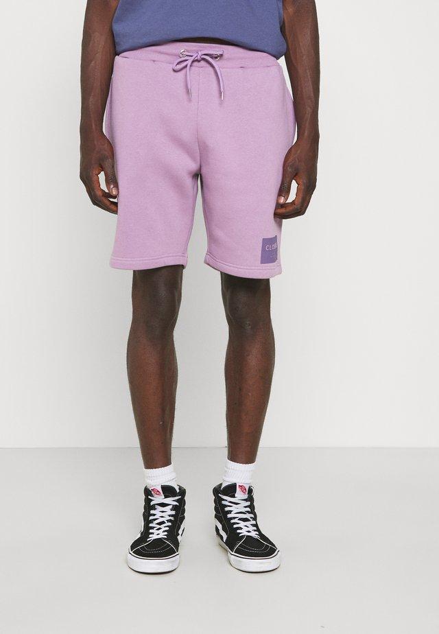 TONAL BOX LOGO - Shorts - dusty purple