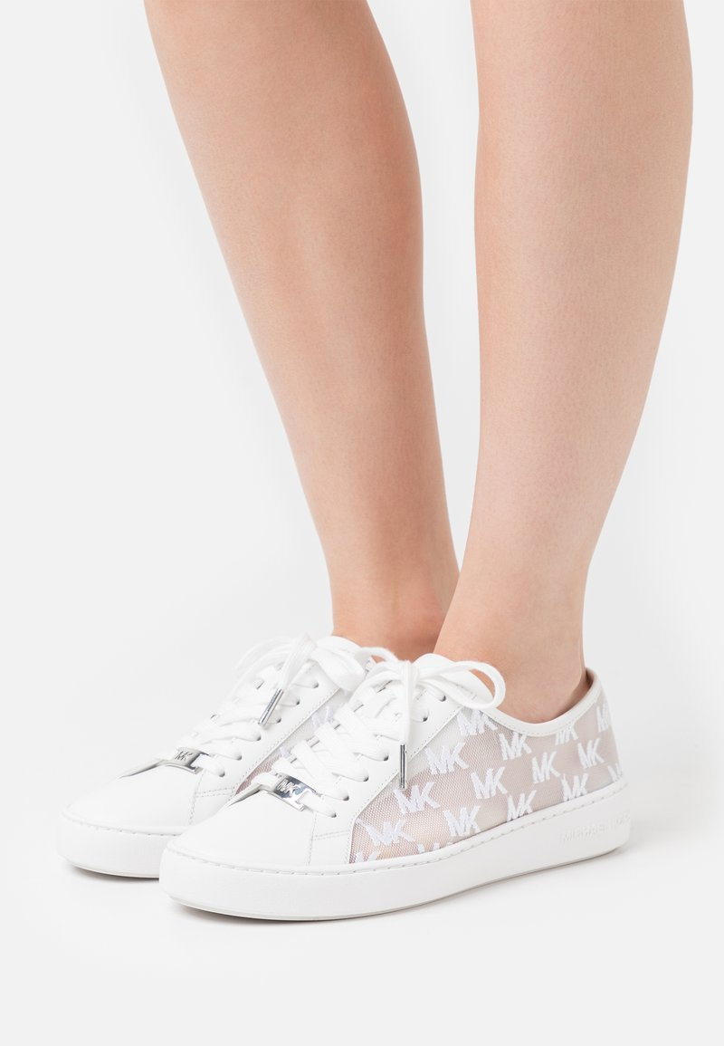 MICHAEL Michael Kors - OLIVIA LACE UP - Sneakers laag - optic white