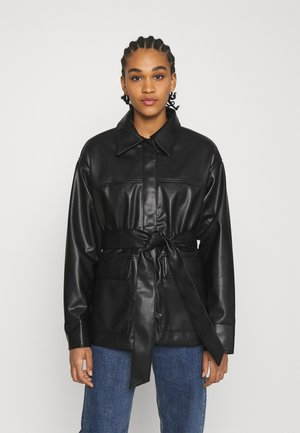 HILL  - Veste en similicuir - black