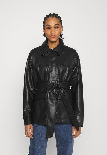 HILL  - Faux leather jacket - black