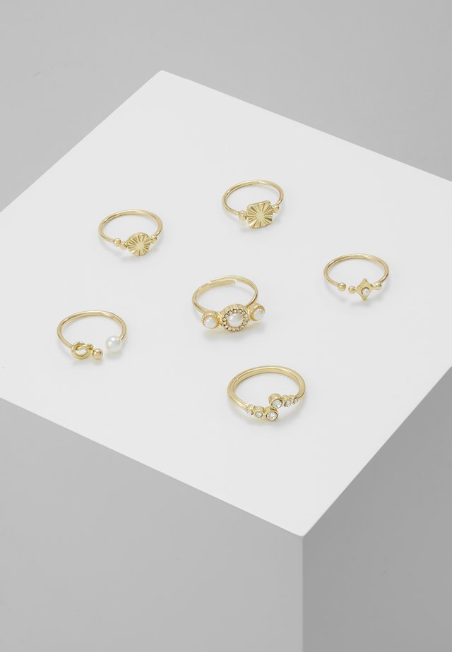 ONLSASSY 6 PACK - Anillo - gold-coloured