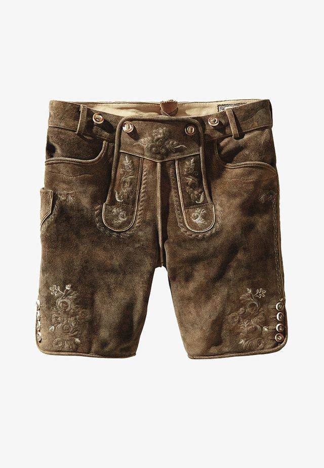 BEPPO  - Leather trousers - havanna
