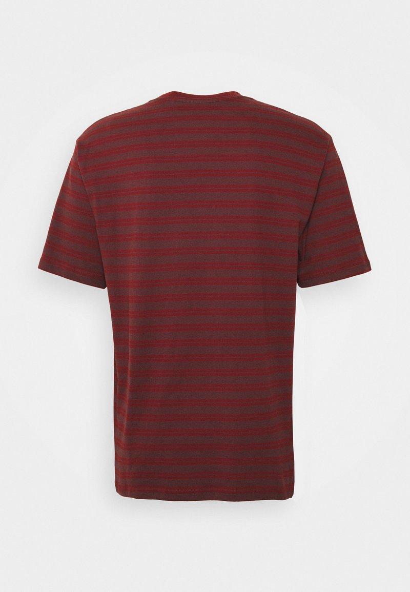 Brixton T-Shirt print - dark brick/wine/dunkelrot FX27aR