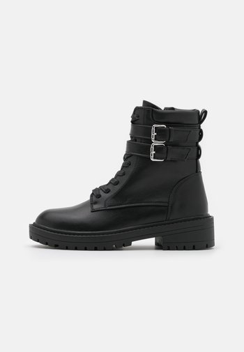 ROGER - Lace-up ankle boots - black