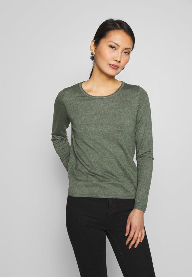 BASIC NECK - Jumper - khaki green