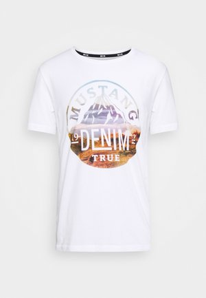 ALEX - Print T-shirt - white