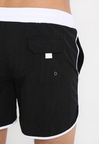 Urban Classics - RETRO - Swimming shorts - black/white - 1