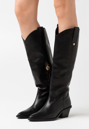 HOLLY KNEE HIGH  - Cowboy- / Bikerboots - black
