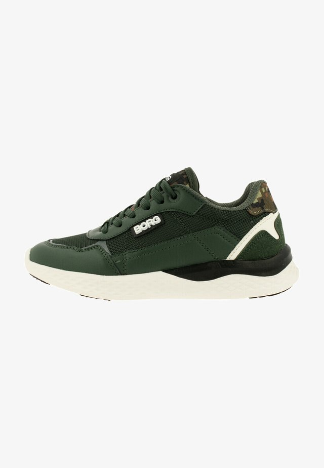 Sneakers laag - green white