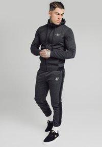 SIKSILK - TONAL CHECK AGILITY ZIP THROUGH HOODIE - Summer jacket - grey - 1