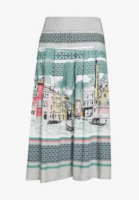 Thought - CANALETTO SKIRT - A-linjekjol - lagoon blue - 3