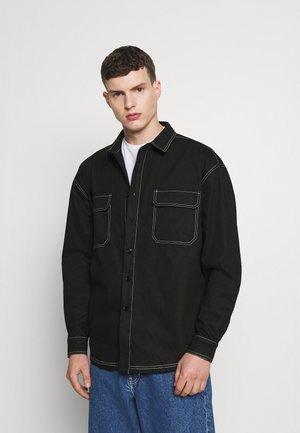 MIRROR CONTRAST STITCH SHIRT - Shirt - black
