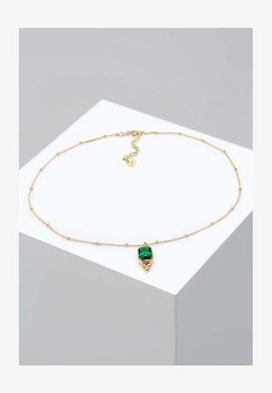 CHOKER  - Necklace - gold-colored/green