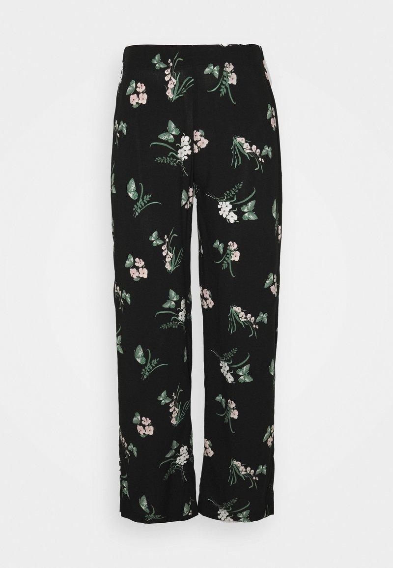 Vero Moda Petite - VMSIMPLY EASY  WIDE PANT - Trousers - black