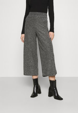 CILLA PARTY TROUSERS - Kalhoty - black/silver