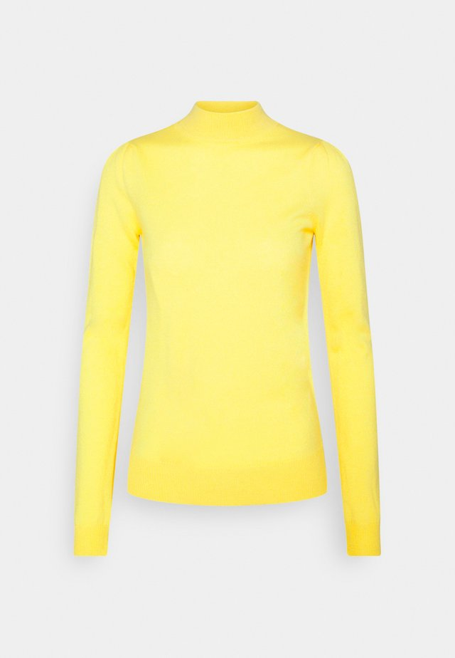 MOCKNECK PUFF SLEEVE - Strikkegenser - yellow