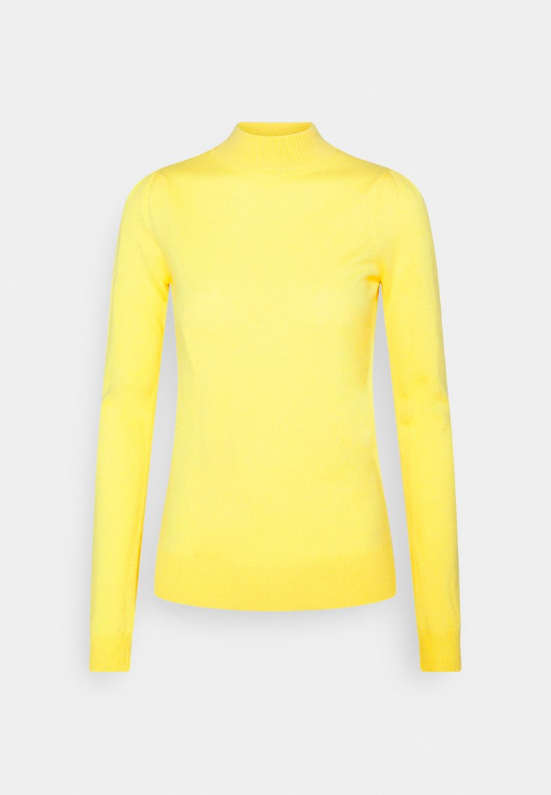 pure cashmere - MOCKNECK PUFF SLEEVE - Strikkegenser - yellow