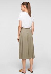 s.Oliver - A-line skirt - summer khaki - 2